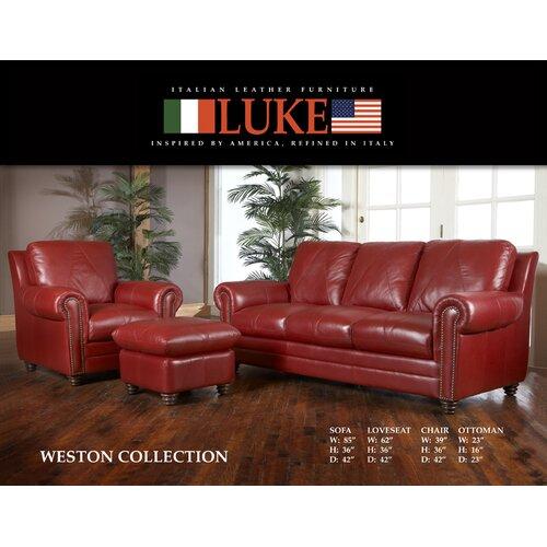 Luke Leather Weston Ottoman