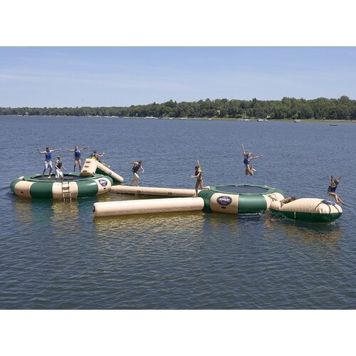 Rave Sports Aqua Jump 200-Eclipse Northwood's Trampoline with Launch and Log
