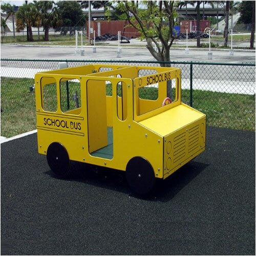 SportsPlay School Bus Multi-Spring Rider