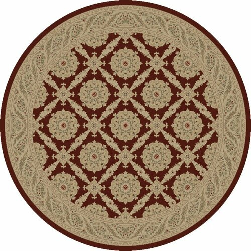 Concord Global Imports Charlemagne Aubusson Red Rug