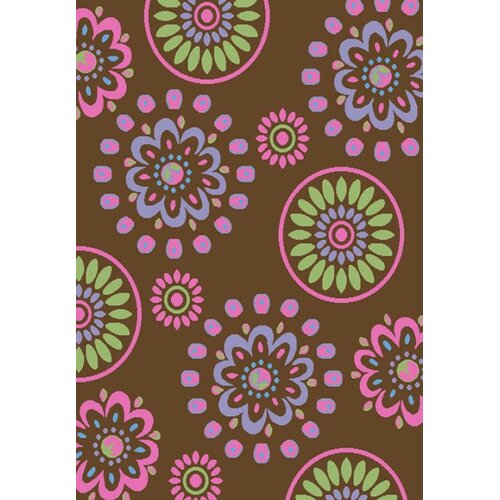 Concord Global Imports Alisa Flower Kaleidoscope Kids Rug