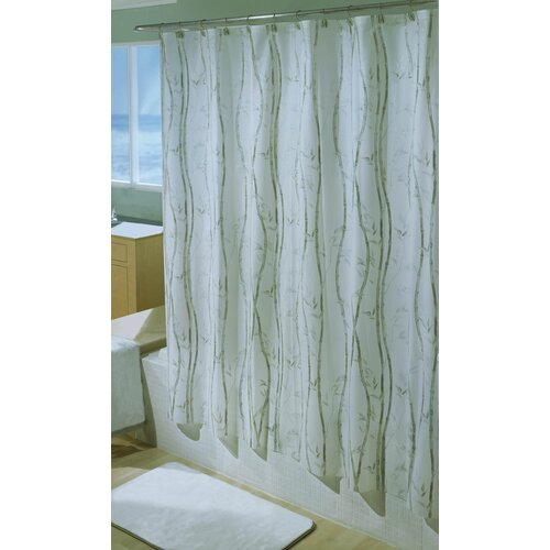 Bamboo Vinyl Shower Curtain