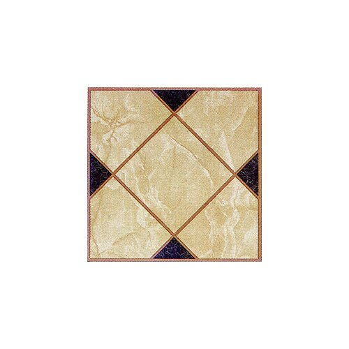 "Home Dynamix 12"" x 12"" Vinyl Tile in Light Brown Squares Cross"