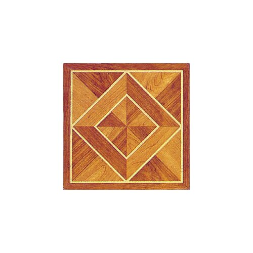 "Home Dynamix 12"" x 12"" Vinyl Tile in Machine Light / Dark Wood Diamond"