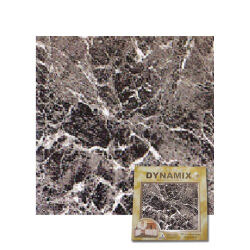 "Home Dynamix 12"" x 12"" Vinyl Tile in Machine Grey Marble"