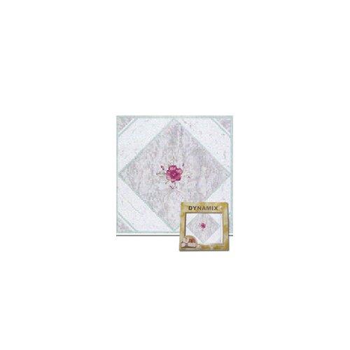 "Home Dynamix 12"" x 12"" Vinyl Tile in Light Taupe / Pink Flower"