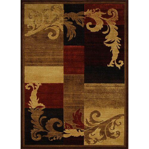 Home Dynamix Catalina Light Brown/Red Rug