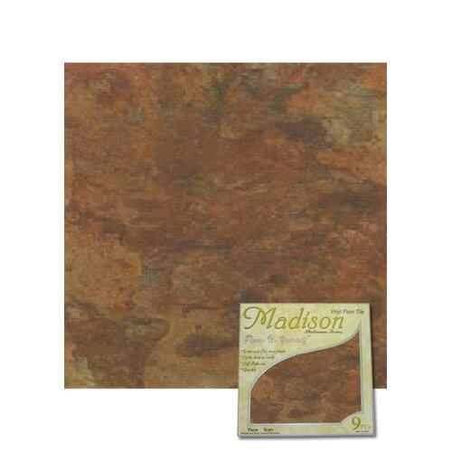 """Home Dynamix 12"""" x 12"""" Vinyl Tiles in Madison Stone Vinyl Tile"""