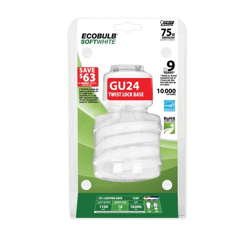 FeitElectric 75W (2700K) Fluorescent Light Bulb