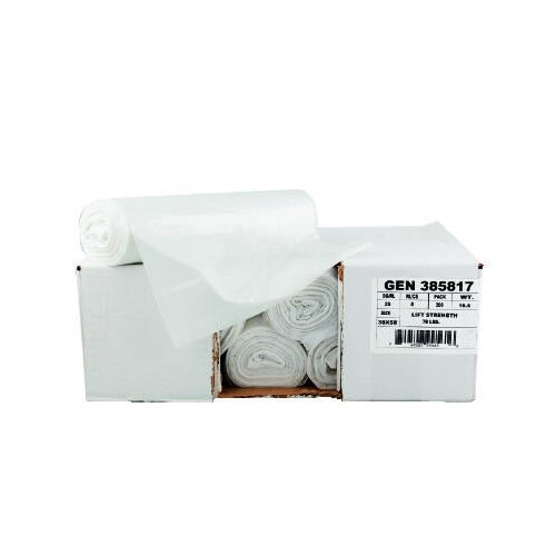 """General 43"""" x 46"""" High-Density Can Liner with 16 Micron Equivalent in Clear"""