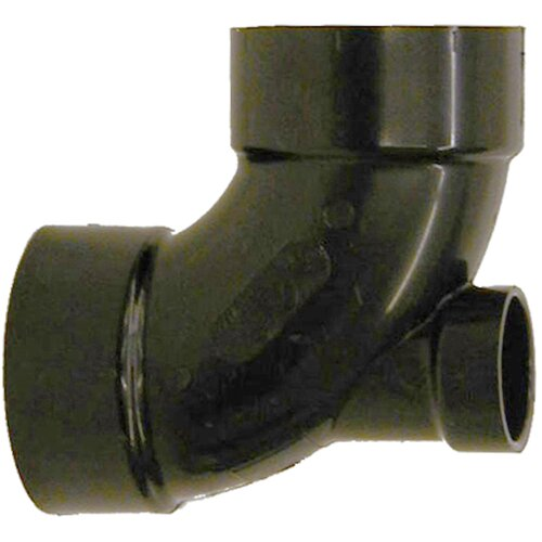 "GenovaProducts 3"" x 3"" x 2"" ABS 90 Elbow with Lowheel Inlet"