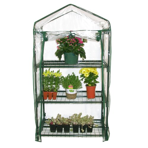 "Alpine 3 Tier 19"" W x 27"" D Growing Rack Greenhouse"