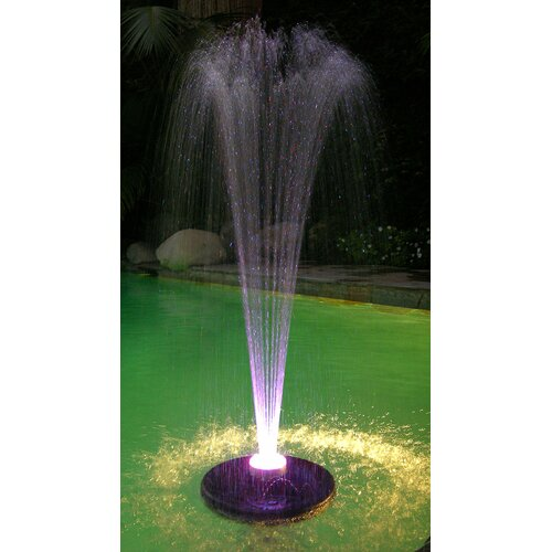 Alpine Floating Spray Fountain with 48 LED Lights and 550 GPH Pump