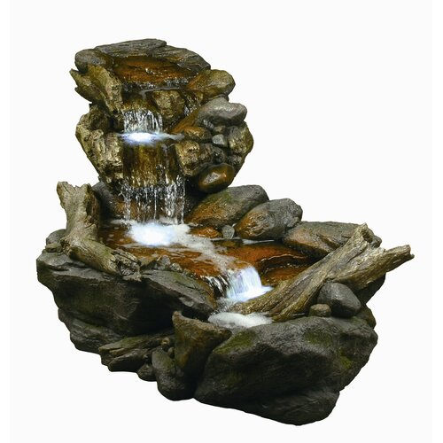 Alpine 3 Tier Rainforest Fountain with LED Lights