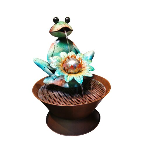 Alpine Metal Frog Fountain