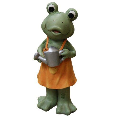 Frog Girl in Dress Statue
