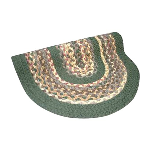 Minuteman Sage Green Solids with Mauve Accents Multi Round Rug