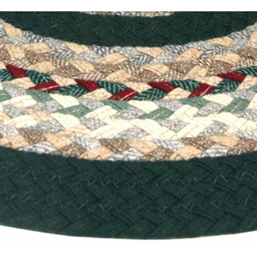 Minuteman Plaid Mix with Dark Green Solids Multi Runner Rug