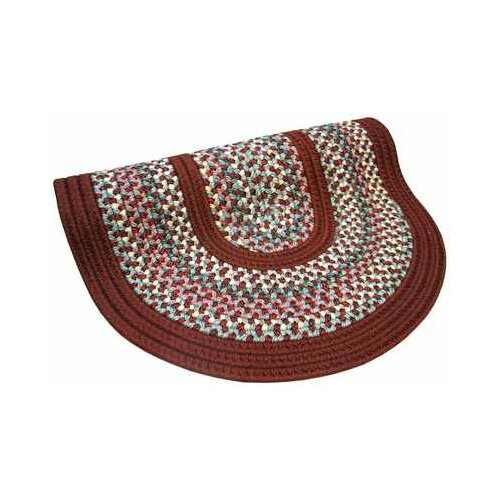 Pioneer Valley II Indian Summer with Burgundy Solids Round Outdoor Rug