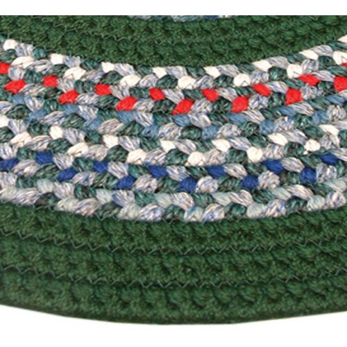 Thorndike Mills Pioneer Valley II Carribean Blue with Dark Green Solids Multi Runner Outdoor Rug