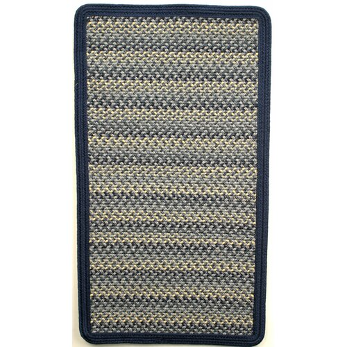 Pioneer Valley II Williamsburg Blue with Dark Blue Solids Multi Square Rug