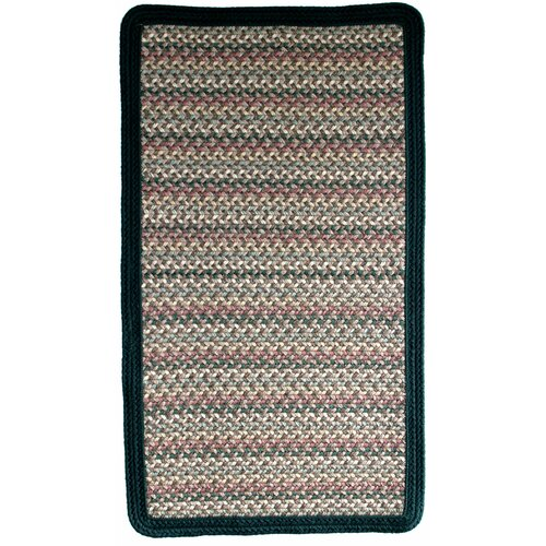 Pioneer Valley II Autumn Wheat with Dark Green Solids Multi Square Rug