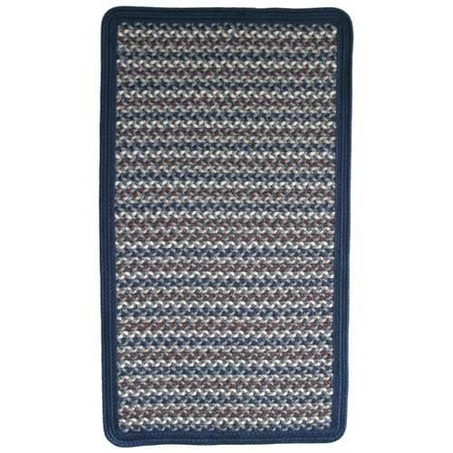 Green Mountain Lake Champlain Blue Multi Square Rug