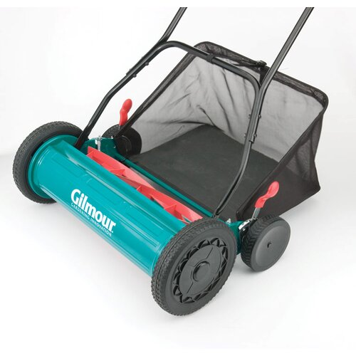 "Gilmour 20"" Adjustable Hand Reel Mower With Grass Catcher RM30"