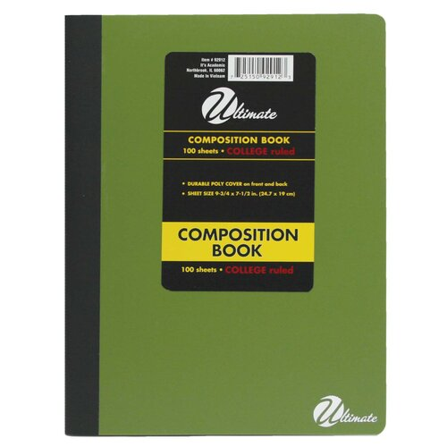 "ItsAcademic 9"" x 7.5"" Composition Book"