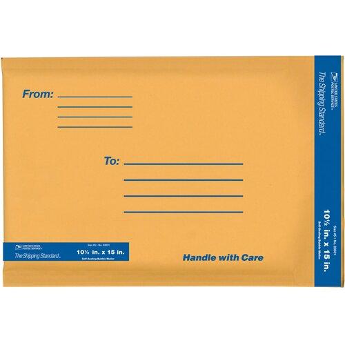 """Lepages 10.5"""" x 15"""" Kraft Manila USPS Padded Mailer"""