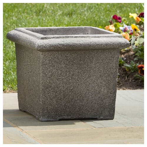 Alfresco Home Square Rolled Rim Planter