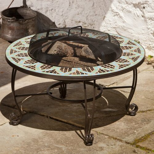 Le Mans Mosaic Burning Fire Pit Table
