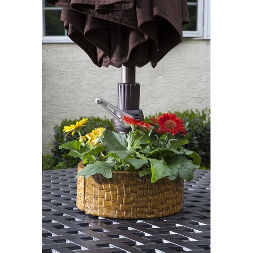 Alfresco Home Cobblestone Umbrella Planter