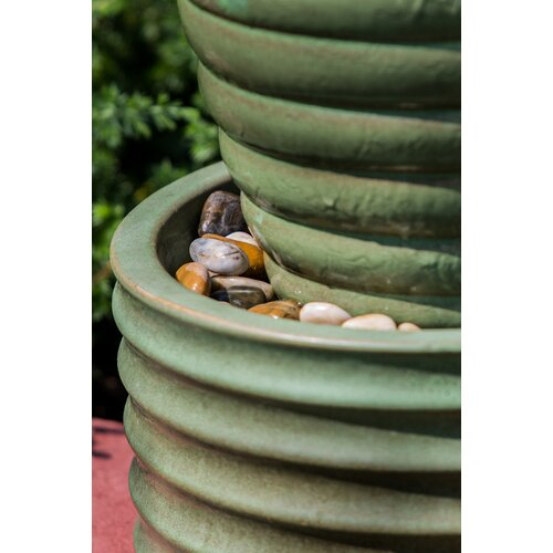 Alfresco Home Etna Indoor / Outdoor Ceramic Urn Fountain