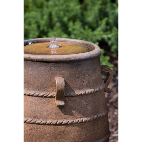 Alfresco Home Alicante Outdoor Resin Urn Fountain