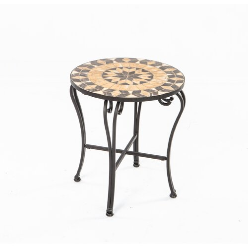 Alfresco Home Loretto Mosaic Side Table