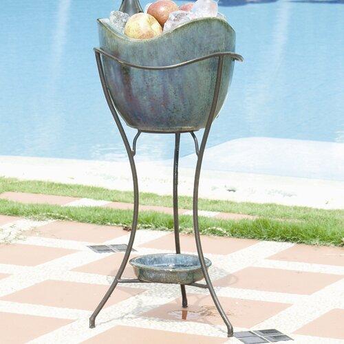 Alfresco Home Olas Elevated Ceramic Beverage Tub Set