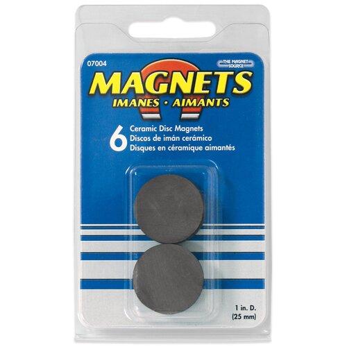 Master Magnetics Ceramic Disc Magnets (Pack of 6)