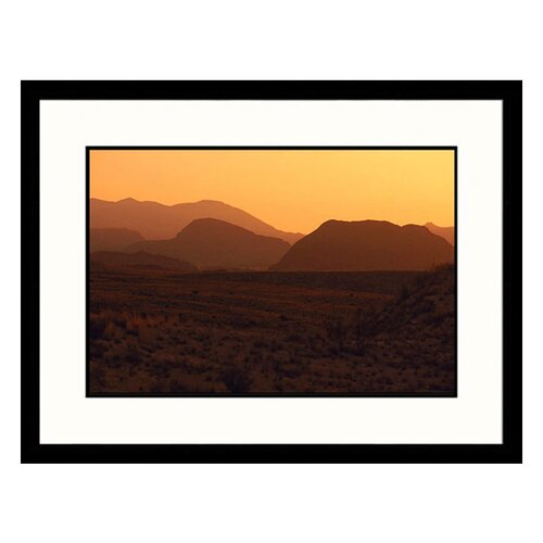 Great American Picture Landscapes 'Desert Dawn, West Texas' by Stewart Cohen Framed Photographic Print