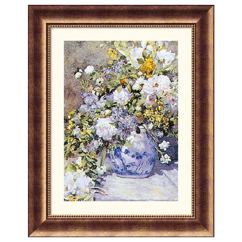 Great American Picture Museum Reproductions Vase de Fleur by Pierre Auguste Renoir Framed Painting Print