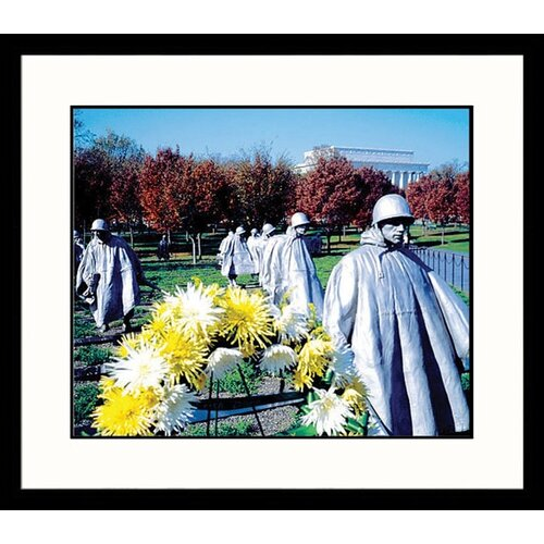 Great American Picture National Treasures Korean War Memorial Framed Photographic Print