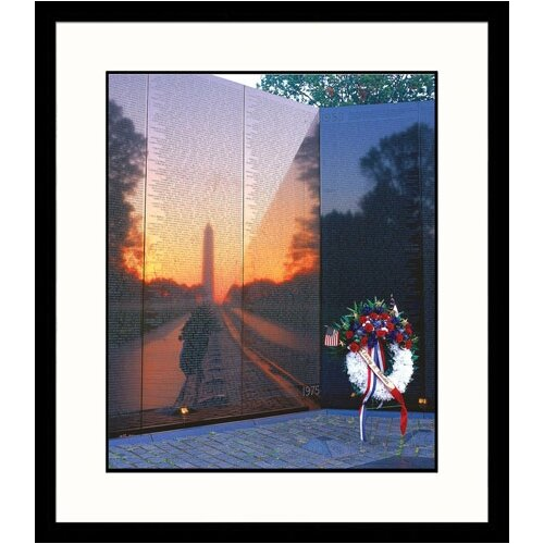 Great American Picture National Treasures 'Reflections, Vietnam Wall Memorial' by Tom Dietrich Framed Photographic Print