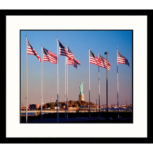 Great American Picture National Treasures 'Liberty and Flags' by Joe Deutsch Framed Photographic Print