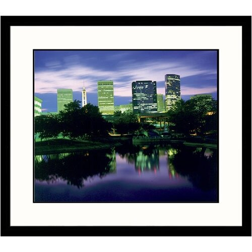 Great American Picture Cityscapes Charlotte Dusk Framed Photographic Print