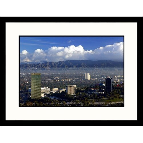 Great American Picture Cityscapes 'San Fernando Valley' by Walter Bibikow Framed Photographic Print