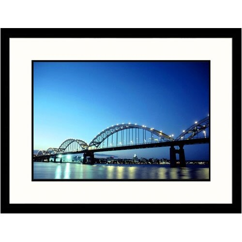 Great American Picture Cityscapes 'Centennial Bridge' by Mark Gibson Framed Photographic Print