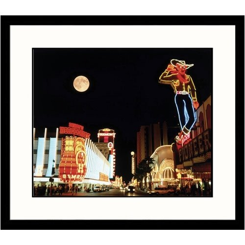 Great American Picture Cityscapes 'Downtown Las Vegas' by Michael Howell Framed Photographic Print