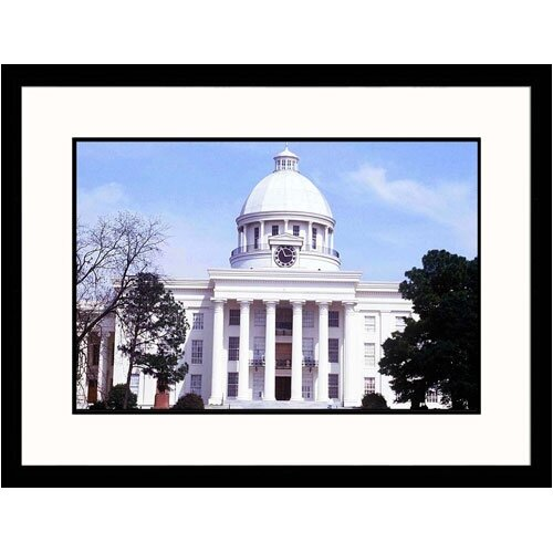 Great American Picture Cityscapes 'State Capitol of Montgomery, Alabama' by Mark Gibson Framed Photographic Print