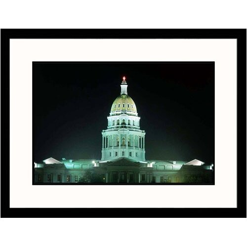 Great American Picture Cityscapes 'State Capitol of Denver, Colorado' by Tim Haske Framed Photographic Print