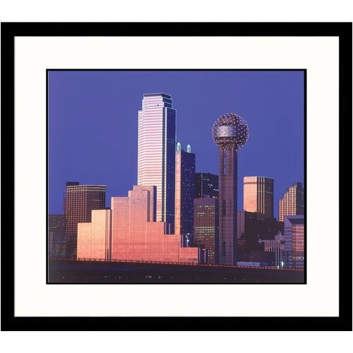 Great American Picture Cityscapes 'Skyline and Route 30 in Dallas' by Walter Bibikow Framed Photographic Print